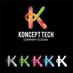 Letter k logo Premium Vector Letter K, Initial Letters, Letter Logo, Types Of Lettering, Lettering Design, K Logos, Luxury Logo, Leaf Logo, Abstract Logo