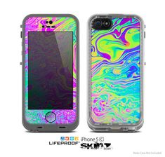 Neon color fusion skin iPhone 5/5S, iPhone 5C, iPhone 4/4S https://www.etsy.com/es/listing/184767668/the-neon-color-fusion-skin-for-the-apple