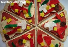 Jennifers Little World blog - Parenting, craft and travel: Homemade play food - salt dough and felt pizza