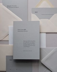 Minimal / Modern Wedding Invitations - DearestOlivia.com