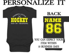85b86340 PERSONALIZED ANY TEAM ANY NAME bruins baby jersey onesie. so cute for the  die hard