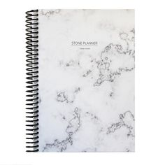 Stone Planner 'white marble' organizer a5 - LawendowyBazar - Notatniki A5