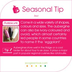 #Seasonal #Foodtip #July #Aubergines are ready to taste! -- #food #inseason #eggplant #summer