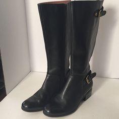 CORSO Como riding boots SZ 7 EC BLACK WORN ONCE CORSO COMO FRANCINE RIDING BOOTS SZ 7 EC. WIDE CALF. BLACK LEATHER. WORN ONCE. RETAILED NEW $198 Corso Como Shoes Heeled Boots
