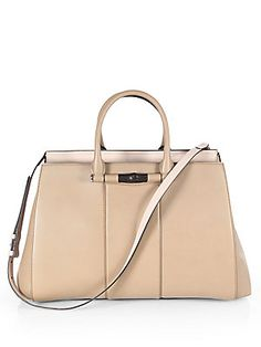 Gucci Lady Bamboo Leather Top Handle Bag