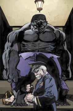 Gray Hulk & General Ross by Tim Sale