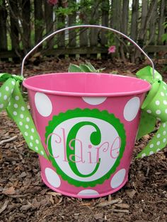 Personalized Easter Bucket- 5 QT.