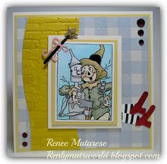Renlymat's World: Ease on Down the Road (dance teacher thank you) Wizard of Oz, scarecrow, tin man, witch ... handmade card.