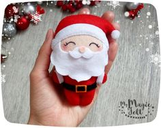 Adornos navideños fieltro adorno Santa fieltro adornos de