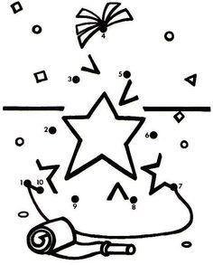 Actividades para niños preescolar, primaria e inicial. Fichas para niños para imprimir con dibujos para unir los puntos numerados para niños de preescolar y primaria. Unir puntos numerados. 34