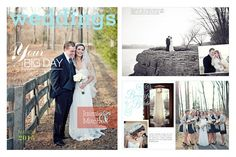 Beautiful, Clean, Modern Blog Board Templates for Professional Wedding and Portrait Photographers - Magazine Style Blog Boards for Photoshop and InDesign | Design Aglow
