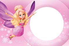 Invitaciones o Marcos para Fotos de Barbie para Imprimir Gratis.