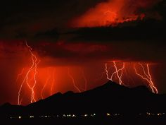 Lightning Storms | red lightning storm 150x150 Lightning Images