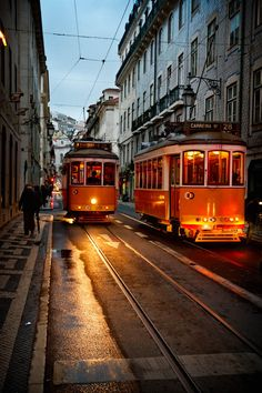 Lisboa (Lisbon), Portugal was where I first discovered how cool it is to take the local trolley cars around an old city. It makes for a very intimate experience. Places Around The World, Travel Around The World, Around The Worlds, Travel Pictures, Travel Photos, Lisbon Tram, S Bahn, Photos Voyages, Spain And Portugal