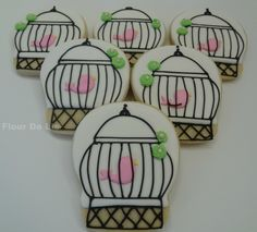 Bird in a cage cookies