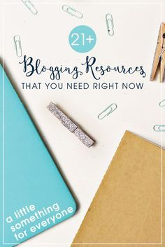 21+ Blogging Resources that You Need Right Now - Everything from photography classes, email lists you should be on, and some killer blogging courses. This covers all my tips for beginner to advanced bloggers. What would you add to this list?