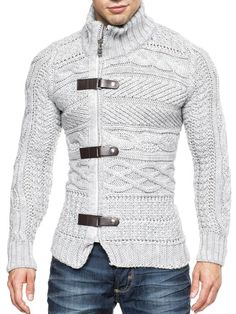 BALANDI Herren Strickjacke Strick Pullover Jacke Hoodie Hoody: Amazon.de: Bekleidung