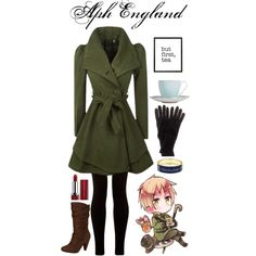 """Aph England (Hetalia)"" by isabel-kitty-marie on Polyvore"