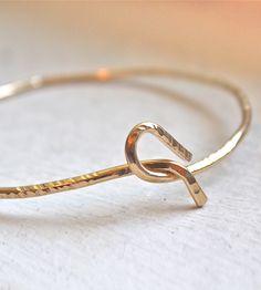 Gold Unite Bangle Bracelet