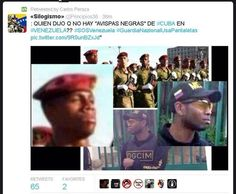 Avispas negras cubanas en Venezuela... TE LAS TENGO #SOSVenezuela #PrayForVenezuela pic.twitter.com/jhRRcfSlS4