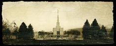 Denver Colorado Temple, 8x20 High Resolution Digital File, INSTANT DOWNLOAD, Aged Sepia
