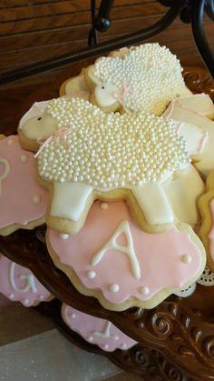 Lamb Baby Shower Cookies
