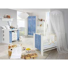 rauch Babyzimmer-Set TORBEN, 3-tlg. Alpinweiß-Maritim-Look