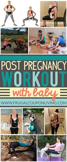Home Workout Hacks with Baby on Frugal Coupon Living - Post Pregnancy work-out Ideas from the comfort of your home or neighborhood. Workout ideas with baby.