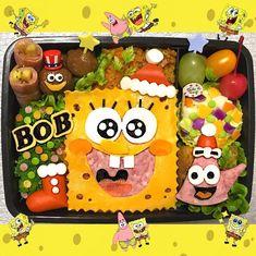 #スポンジボブ#パトリック#オムライス#キャラ弁#デコ弁#キャラごはん#デコごはん#クリスマス弁当#スポンジボブ弁当#オムライス弁当#旦那弁当#愛妻弁当#お弁当#弁当#海苔アート#ランチ#lunch#spongebob#🍱#🍴 Cute Food Art, Bento Box Lunch, Spongebob, Bowser, Fancy, Japan, Birthday, Desserts, Angel
