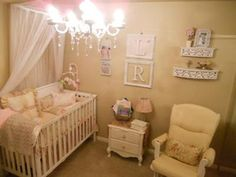 My inspiration: I found a picture that I loved online and just started looking for little vintage treasures to put in my baby girl's room. I went to flea