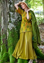 Jersey skirt in bamboo & eco-cotton by Gudrun Sjoden