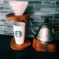 Redemption Woodwork | Coffee Pour-Over Stand - Rev: Avocado, Adjustable Mug Height Block, Hario V60