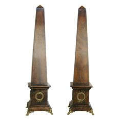 Shop obelisks and other antique and vintage collectibles from the world's best furniture dealers. Obelisks, Number 5, Empire Style, Grand Tour, Columns, Continents, Cool Furniture, Egyptian, Bookends