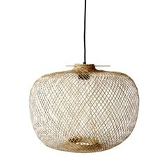 Bloomingville Natural Bamboo Pendant Light. With its fine and delicate weave, this bamboo pendant light, from Danish home brand Bloomingville, will create just the right balance of nature and organic simplicity within the home.