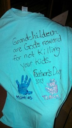 Father's Day present for grandpa from grandkids.
