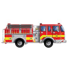 Melissa and Doug Fire Truck Floor Puzzle, Multicolor