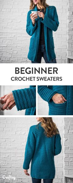 Beginner Sweater Projects - Pattern & Yarn Mailed to You!