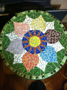 Mosaic Mandala Step Stool FREE SHIPPING by denisekienow on Etsy