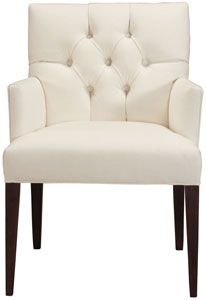 cobble hill clark arm chair - dyno/white $495