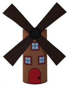 Windmill TP Roll Craft for Holland or Germany study card roll, toilet paper rolls, art cards, paper towel rolls, germany for kids, netherlands crafts, germany crafts for kids, toilet roll crafts, kids germany crafts