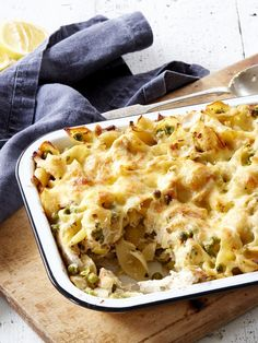 Chicken, Leek and Pea Pasta Bake Recipe | myfoodbook