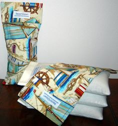 Lavender Aromatherapy Eye Pillow in Muslin with by BeachDawn