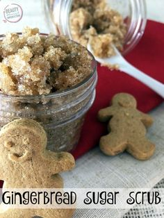 Gingerbread Sugar Scrub recipe. Fun Christmas gift ideas. Sponsored by Dunkin' Donuts. #DunkinAtHome #BakerySeries #ad
