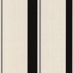 Superfresco Black/Mica Barley Stripe Wallpaper- at Debenhams.com