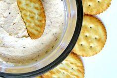Knoblauch - Käse - Creme zum Dippen & Snacken