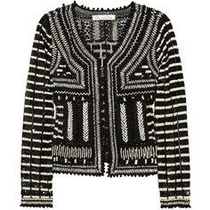 Oscar de la Renta Embellished tulle jacket
