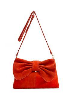 MANGO - BAGS - Leather messenger bow handbag