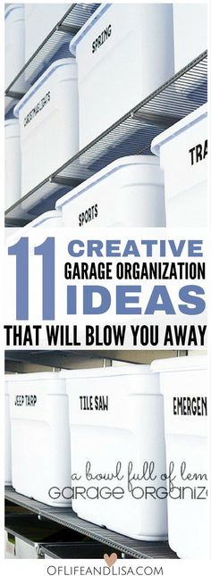 If you are looking for ways to declutter and organize your garage then this is post that you need in your life.
