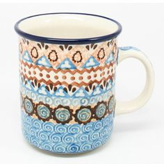 """3 3/4"""" H x 3 1/4"""" W x 4 1/4"""" L - Quality 1 Guaranteed from the renowned Ceramika Artystyczna Boleslawiec - Polish Pottery is Oven, Microwave, and Dishwasher Safe! - Hand Painted and Stamped by Highly"""