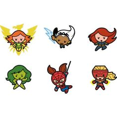 Kawaii Marvel Girl Superheroes Fathead Collection